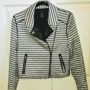 Worn Once DOLCE VITA Motorcycle Cropped Jacket MED